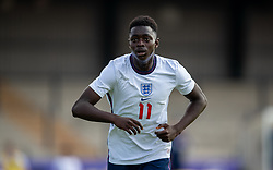 NEWPORT, WALES - Friday, September 3, 2021: England's Michael Olakigbe during an International Friendly Challenge match between Wales Under-18's and England Under-18's at Spytty Park. (Pic by David Rawcliffe/Propaganda)