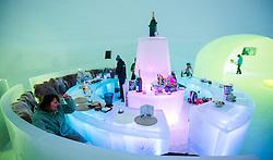 THEMENBILD - Baransicht eines Iglus des Ice Camps, aufgenommen am 15. Januar 2015 am Kitzsteinhorn, Kaprun, Österreich. EXPA Pictures © 2014, PhotoCredit: EXPA/ JFK
