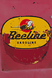 """detail of an old gas station pump called """"Beeline"""""""