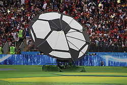 June 14, 2018 - Moscow, Russia - Russian Federation. Moscow. The Luzhniki Stadium. Match Opening of the World Cup 2018. Russia - Saudi Arabia. Solemn opening ceremony of the FIFA World Cup 2018. FIFA World Cup 2018. Player of the Russian national football team  (Credit Image: © face to face via ZUMA Press)