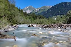 "THEMENBILD - Naherholungsgebiet Schotterfluren. am Kalser Bach. in Kals am Großglockner,  Österreich am Dienstag, 31. Juli 2018 // Recreation area ""Schotterfluren"" at the river ""Kalserbach"".. Tuesday, July 31, 2018 in Kals am Grossglockner, Austria. EXPA Pictures © 2018, PhotoCredit: EXPA/ Johann Groder"