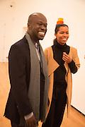 DAVID ADJAYE; ASHLEY SHAW-SCOTT; , Gala Opening of RA Now. Royal Academy of Arts,  8 October 2012.