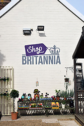 Shop at Britannia prison, Norwich. As well as general gifts & plants, it sells upcycled furniture made by the inmates. UK Sep 2018