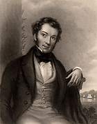 Richard Cobden (1804-1865) 'the Apostle of Free Trade'. English politician, economist and Lancashire calico manufacturer.    A founder in 1838 of Anti-Corn Law League and campaigner for Free Trade.   From 'The World's Great Men'. (London, c1870).