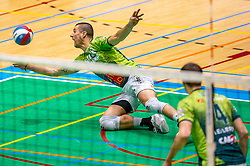 Adam White of Orion in action during the semi cupfinal between Active Living Orion vs. Amysoft Lycurgus on April 03, 2021 in Saza Topsportshall Doetinchem