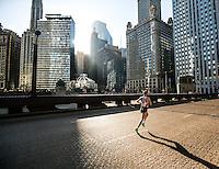 Shamrock Shuffle lead  runner in Chicago.