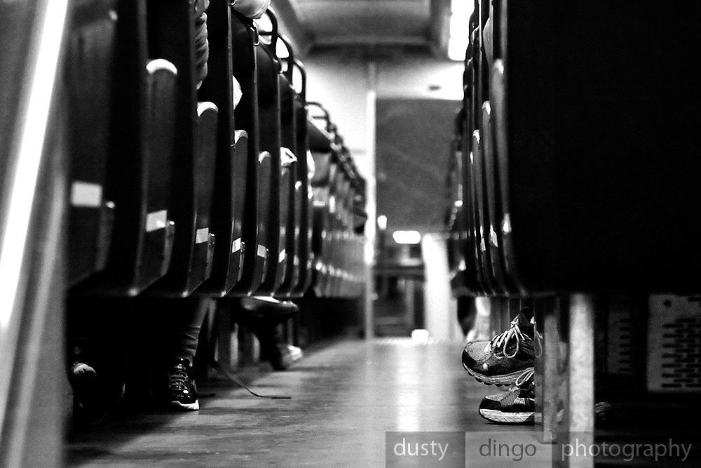 Train carriage interior, USA