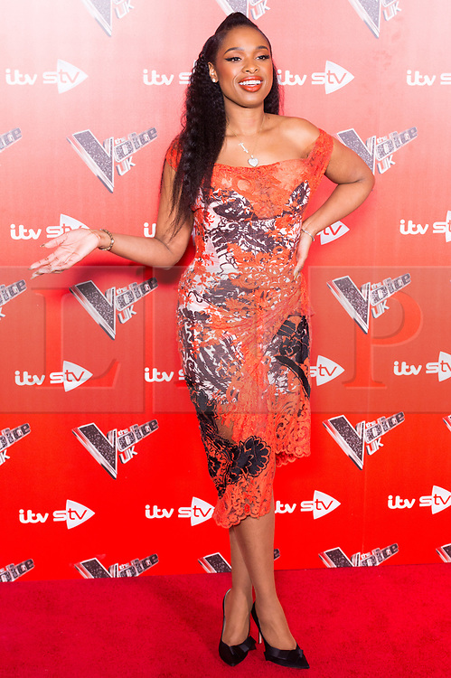 © Licensed to London News Pictures. 03/01/2018. London, UK. JENNIFER HUDSON attends the Launch of The Voice UK 2018 press launch on ITV. Photo credit: Ray Tang/LNP