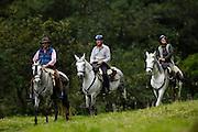 Ecuador, May 1 2010: Horse riders at Hacienda Zuleta...Copyright 2010 Peter Horrell