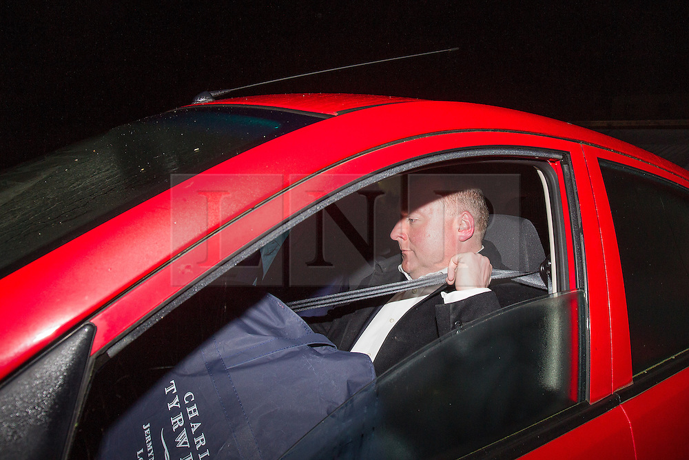© Licensed to London News Pictures . 24/09/2013 . Brighton , UK . DAMIAN MCBRIDE leaving Stanmer House early in the morning of Tuesday 24th September 2013, after appearing on Newsnight. The former press aid to Gordon Brown has serialised his memoirs about Gordons Browns time in office at the same time the Labour Party are holding their annual conference. Photo credit : Joel Goodman/LNP