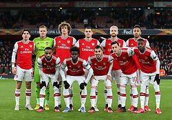 Arsenal team photo prior to kick off - Mandatory by-line: Arron Gent/JMP - 27/02/2020 - FOOTBALL - Emirates Stadium - London, England - Arsenal v Olympiacos - UEFA Europa League Round of 32 second leg