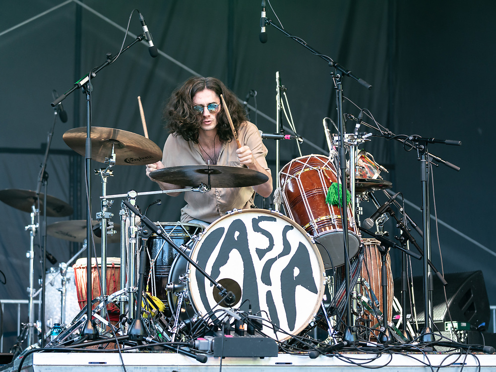 Jake Leff of British indie-rock band Cassia at the Open Ohr Festival