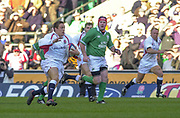 Twickenham. Surrey, UK., 16th February 2002, Six Nations International Rugby,  RFU Stadium, England vs Ireland,  [Mandatory Credit: Peter Spurrier/Intersport Images],<br /> <br /> The Lloyds TSB Six Nations Championship<br /> England v Ireland<br /> RFU - Twickenham<br /> 16/02/2002, Jonny WILKINSON, running with the ball,