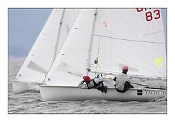 470 Class European Championships Largs - Day 6..CRO83, Sime FANTELA, Igor MARENIC