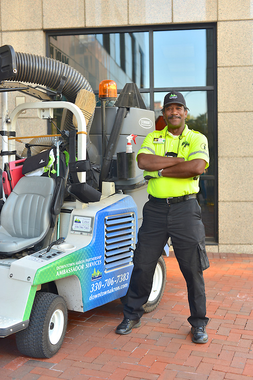 A Downtown Akron Partnership cleaning & safety ambassador.