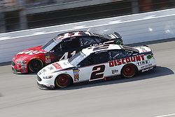 August 12, 2018 - Brooklyn, Michigan, United States of America - Kurt Busch (41) and Brad Keselowski (2) battle for position during the Consumers Energy 400 at Michigan International Speedway in Brooklyn, Michigan. (Credit Image: © Chris Owens Asp Inc/ASP via ZUMA Wire)