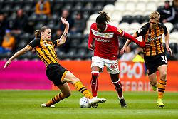 Kasey Palmer of Bristol City takes on Jackson Irvine of Hull City - Mandatory by-line: Robbie Stephenson/JMP - 05/05/2019 - FOOTBALL - KCOM Stadium - Hull, England - Hull City v Bristol City - Sky Bet Championship