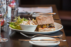 Tam Cowan's restaurant review at The Place Hotel, 34-38 York Place, Edinburgh. The cheeseburger.