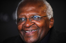 Archbishop Desmond Tutu during a visit to the 2012 Olympic Park in Stratford, east London.