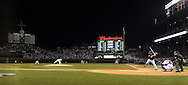 CHICAGO, IL - OCTOBER 28: Kyle Hendricks #28 of the Chicago Cubs delivers the first pitch of Game 3 of the 2016 World Series against the Cleveland Indians at Wrigley Field on Friday, October 28, 2016 in Chicago, Illinois. (Photo by Ron Vesely/MLB Photos via Getty Images)
