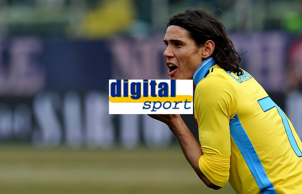 """Edinson CAVANI (Napoli) <br /> Parma 04/03/2012 Stadio """"Ennio Tardini""""<br /> Serie A 2011/2012<br /> Football Calcio Parma Vs Napoli<br /> Foto Insidefoto Alessandro Sabattini"""