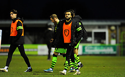 Dominic Bernard of Forest Green Rovers after the final whistle - Mandatory by-line: Nizaam Jones/JMP - 16/01/2021 - FOOTBALL - innocent New Lawn Stadium - Nailsworth, England - Forest Green Rovers v Port Vale - Sky Bet League Two