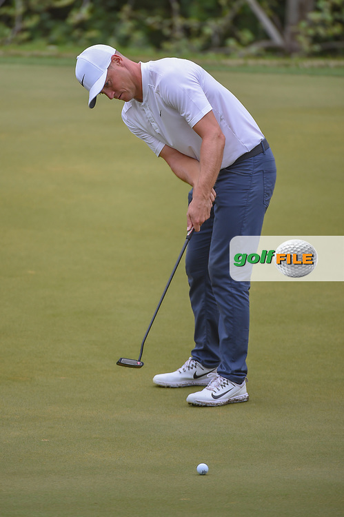 Alex Noren (SWE) watches his putt on 2 during day 5 of the World Golf Championships, Dell Match Play, Austin Country Club, Austin, Texas. 3/25/2018.<br /> Picture: Golffile | Ken Murray<br /> <br /> <br /> All photo usage must carry mandatory copyright credit (© Golffile | Ken Murray)