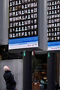 Nederland, Nijmegen, 15-2-2019 Op Plein44 staan grote borden met daarop de portretjes van slachtoffers van het vergissingsbombardement op de stad, 75 jaar geleden in 1944. Bijna 800 doden. Op 22 februari wordt dit uitgebreid herdacht.Foto: Flip Franssen