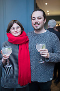 NO FEE PICTURES<br /> 12/4/18 Nichol Gray, Rathfarnham and  Jordan McQuaid, Apollo print, at the launch of Jenny Huston and Leah Hewson's jewellery and fine art collaboration, Edge Only x Leah Hewson at The Dean Dublin. Arthur Carron
