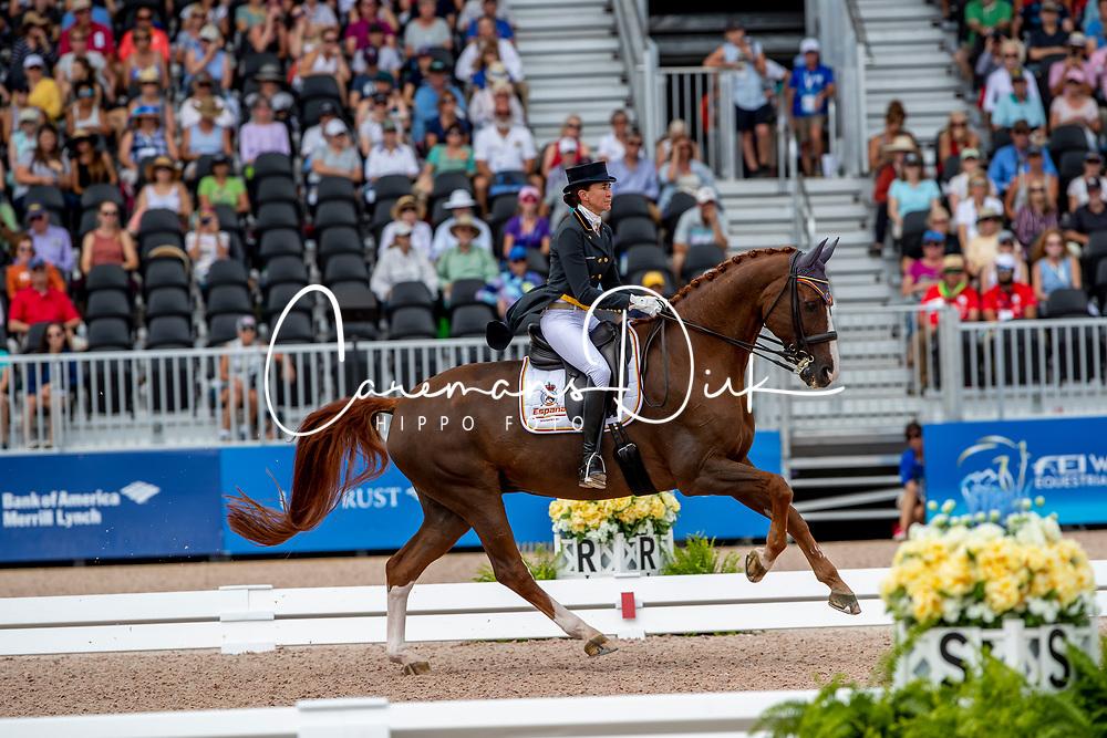 Ferrer-Salat Beatriz, ESP, Delgado<br /> World Equestrian Games - Tryon 2018<br /> © Hippo Foto - Dirk Caremans<br /> 14/09/18