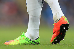 5th February 2017 - Premier League - Manchester City v Swansea City - John Stones of Man City wears personalised Nike boots with the words 'Pencil Savage 24' written on them - Photo: Simon Stacpoole / Offside.