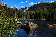 USA, Colorado, Rocky Mountain National Park,  Bear Lake