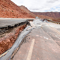 040213       Brian Leddy<br /> A geologic event caused the closure of US 89 near Bitter Springs, Ariz. that caused the road to buckle and slide down the mountain. There is currently no timeline for when the road will reopen.