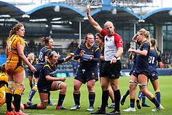 Worcester Warriors Women celebrate a late try - Mandatory by-line: Nick Browning/JMP - 24/10/2020 - RUGBY - Sixways Stadium - Worcester, England - Worcester Warriors Women v Wasps FC Ladies - Allianz Premier 15s