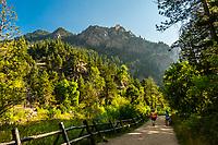 Eldorado Canyon State Park, Eldorado Springs, near Boulder, Colorado USA. Eldorado Canyon is a world famous trad rock climbing area.