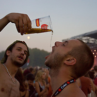 Participants enjoy themselves during Sziget Festival.