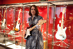 © under license to London News Pictures. 10/03/20011. A collection of Guitars and Amps previously owned by Eric Clapton which sold for $2.15 million Dollars at Bonhams Auction house New York yesterday (09/03/20110) . The personal collection of 75 guitars and 55 amps were auctioned off to benefit The Crossroads Centre in Antigua. With 100% of the lots sold. The final auction totaled more than tripled pre-sale expectations, with proceeds going to the drug and alcohol rehabilitation centre founded by Clapton in 1998.  Photo credit should read Fuat Akyuz/LNP