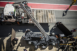 March 10, 2017 - Montmelo, Catalonia, Spain - ROMAIN GROSJEAN's (FRA) car is taken back at the pit stop after technical problems on the track at day 8 of Formula One testing at Circuit de Catalunya (Credit Image: © Matthias Oesterle via ZUMA Wire)