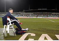 17 June 2013; Owen Farrell, British & Irish Lions, during kickers practice ahead of their game against Brumbies on Tuesday. British & Irish Lions Tour 2013, Kickers Practice,  Canberra Stadium, Bruce, Canberra, Australia. Picture credit: Stephen McCarthy / SPORTSFILE