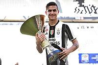 Paulo Dybala<br /> Esultanza Juventus Campione d'Italia . Celebration Juventus Italian championship winner <br />  Torino 21-05-2017 Juventus Stadium Football Calcio Serie A 2016/2017 Juventus - Crotone .<br /> Foto Image Sport / Insidefoto