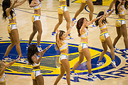 Golden State Warriors cheerleaders perform during a timeout during Game 5 of the NBA Finals against the Cleveland Cavaliers at Oracle Arena in Oakland, Calif., on June 12, 2017. (Stan Olszewski/Special to S.F. Examiner)