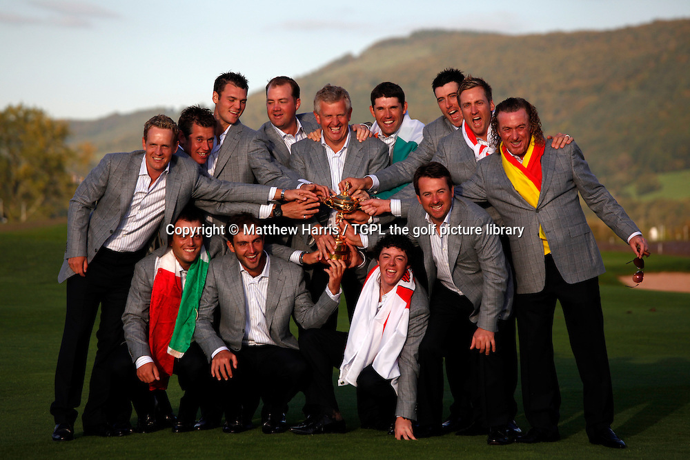 Team Europe win the Ryder Cup beating the USA Session Four_Singles during Ryder Cup 2010,Celtic Manor,Newport,Wales.