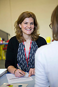 Sarah Murphy, TB Nurse Specialist and lead nurse for Public Health England's London TB Extended Contact Tracing Team (LTBEx) whilst doing tuberculosis contact screening in a community secondary school in London, UK.