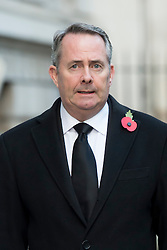 International Trade Secretary Liam Fox makes his way through Downing Street on his way to the annual Remembrance Sunday Service at the Cenotaph memorial in Whitehall, central London, held in tribute for members of the armed forces who have died in major conflicts.