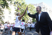 13 September 2009- NY, NY l to r:  U.S. Senator Chuck Schumer at The Annual Komen New York City Race for the Cure held at West 77th Street and Central Park West on September 13, 2009 in New York City.  Photo credit: Terrence Jennings/Sipa Press