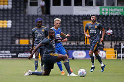 Jon Stead of Notts County passes the ball through Leicester City players - Mandatory by-line: Ryan Crockett/JMP - 21/07/2018 - FOOTBALL - Meadow Lane - Nottingham, England - Notts County v Leicester City - Pre-season friendly