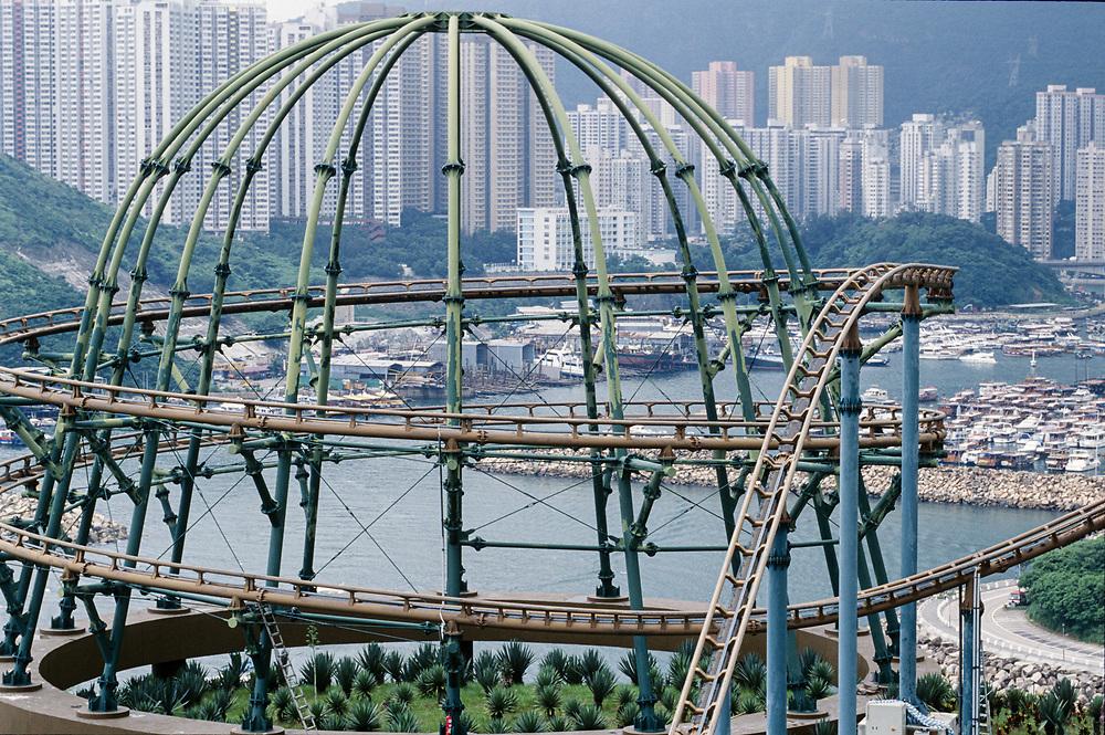 """05/06 JUN 1998 - Hong Kong - Ocean Park: il rollercoaster della """"Antonio Zamperla""""."""