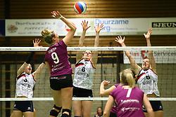 20160409 NED: Volleybal: Sliedrecht Sport - Eurosped TVT, Sliedrecht  <br />Dani Smith, Lynn Thijssen, Angelique Vergeer