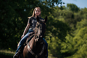 Taylor Offtermat is a nationally-ranked horse barrel racing champion, photographed at her home in Welch, Minnesota on Thursday, June 11, 2020.