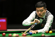 Ding Junhui (Chn) in action, Ding Junhui (Chn) v Kyren Wilson (Eng),  1st round match at the Dafabet Masters Snooker 2017, day 1 at Alexandra Palace in London on Sunday 15th January 2017.<br /> pic by John Patrick Fletcher, Andrew Orchard sports photography.